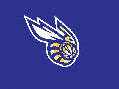 Bzzz graphic maniac fly wings stretball basketball identity sports design hornets mascot logo bee sports logo