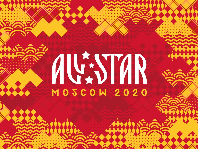 KHL All Star 2020 Moscow graphic maniac хоккей россия москва матч звезд кхл sports branding identity logo design pattern russia game hockey moscow all star game khl