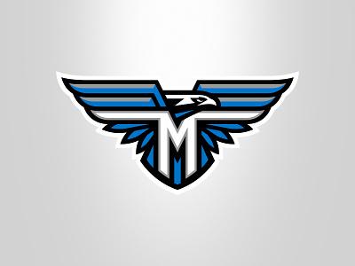 Hawk logo design graphic maniac wings m team logo sport mascot illustration branding eagles hawks sports logo logo