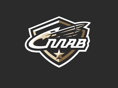 Splav graphic maniac logo design splav sports branding shield rockets war star military sports logo logo