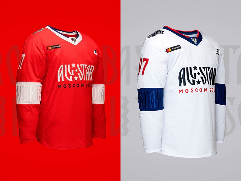 KHL All Star 2020 Moscow дезайн форма кхл хоккей sports design graphic maniac hockey jersey uniform hockey moscow all star game khl
