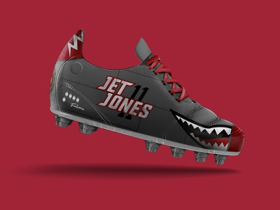 "Espn ""The Custom Cleats Craze"" julio jones falcons red custom espn cleat football"