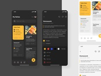 Notes App mobile notes app notes ios app design ios designer dark mode dark ui dark app ux mobile ui app design ux design ui exploration ui design design shots