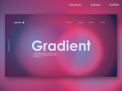 Animated Powerpoint Gradient Slide Design