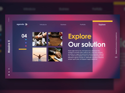 Gradient Agenda Layout Design