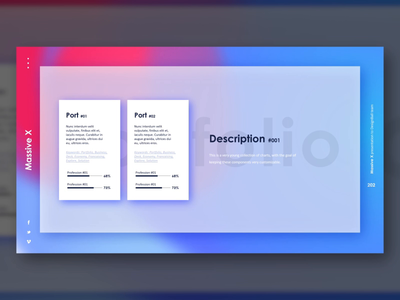 Fresh Portfolio Gradient Slide Design #03
