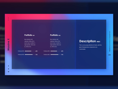 Fresh Portfolio Gradient Slide Design #02