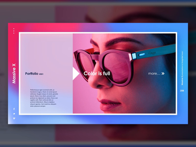 Gradient Photo Layout Slide Design