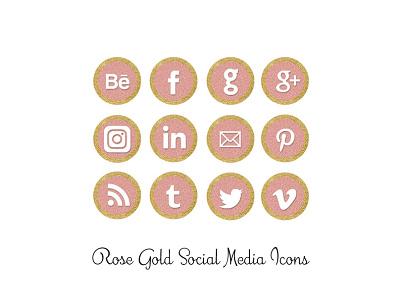 Rose Gold Social Media icons pink rosegold png social media icons