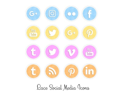 Lace Social Media Icons png social media icons lace