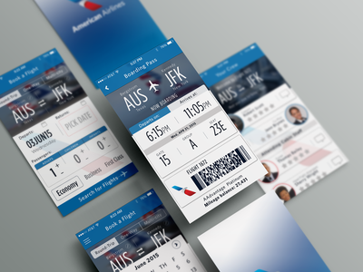 American Airlines App Concept Redesign By Veronica Ordaz