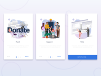 Onboarding Flow with supporting Illustrations