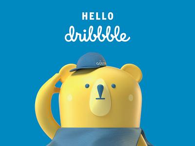 Hi Dribbble! debut first post branding design illustration