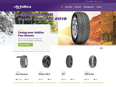 Achilles Banden business wordpress tyres ecommerce