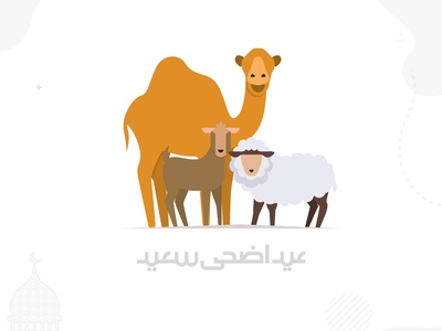 Eid Ul Adha Mubarak vector illustration typography 100daychallenge