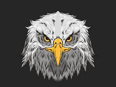 Eagle Head fiverr art illustration art affinityphoto affinitydesigner design vector tshirt simple logo eagle illustrator illustraion