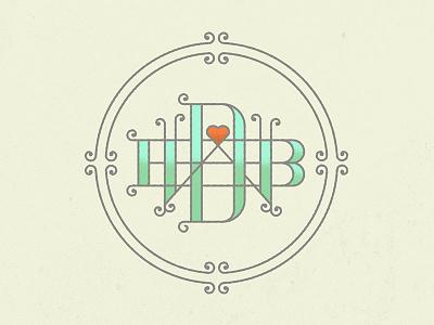 DBW Monogram monogram typography wedding