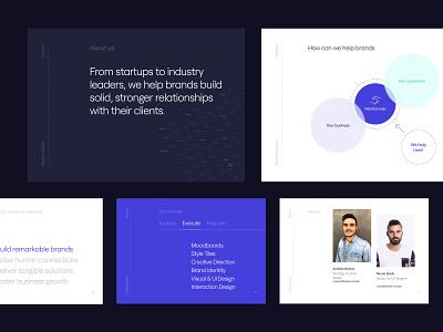 Heybm Company Profile typography design dark mode presentation layout layout design presentation design presentations brand identity brand design branding agency branding studio design agency