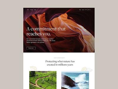 Dalbiondo Sustainability Page animated page layout desktop design website typography typeface sustainability ecommerce fashion