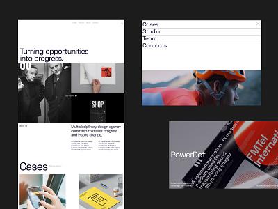 Design Agency Portfolio case study logo branding typography website design website design
