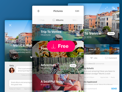 Medium UI Kit mobile interface ios design ui freebies sketch free picture app app interfaces
