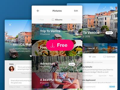 Medium UI Kit mobile interface ios design ui freebies sketch free picture app app interfaces