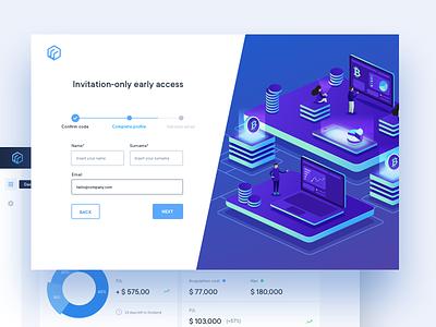 Cryptocurrency Platform blue ui bitcoing design bitcoin ui cryptocurrency digital platform ui design web ui ui