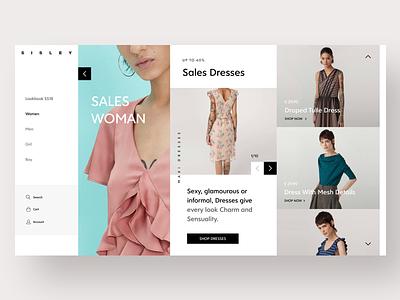 E-commerce Collection UI minimal ui light colors clarika font website hero shop ui ecommerce visual ecommerce ui ecommerce fashion