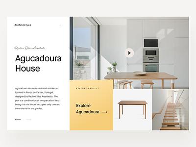 Interior Design UI web ui minimalist ui maison neue font interior design hero ui furniture design architecture