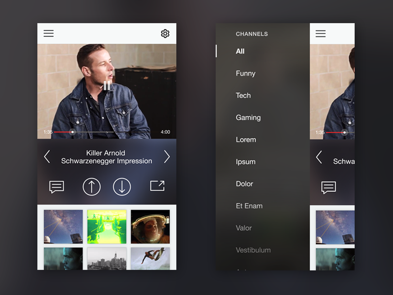 Video Player Mobile App by Bianca Yvonne on Dribbble
