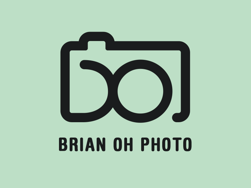 Retouched Brian Oh Logo logo photography simple icon camera