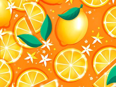 Citron & jasmin creation flat design graphic design drawing illustrator artwork illustration