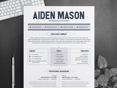 Free Resume Design Template Main Image