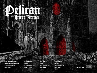 Pelican Inter Arma Tour Poster show poster gig poster metal inter arma pelican