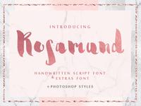 Rosamund script font & Extras + PS Styles