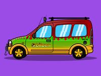 Bilzen Auto Jurassic Park Style