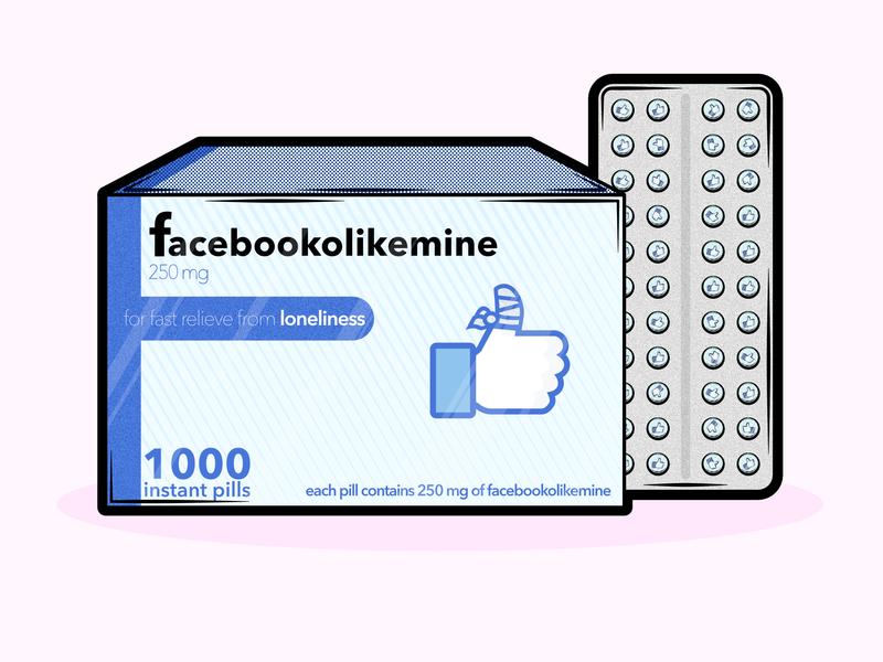Social Media Pharmacy: part I pharmacy thumb up like facebook social media pills medic ui icon branding logo belgium vector affinitydesigner illustration design graphic