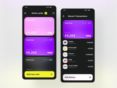 Banking App - Concept mobile ui statistics payment creditcard bank finance app finance banking app banking branding figma design design ux ui