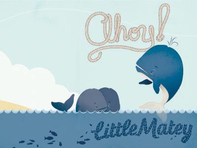 Whale card dribbble