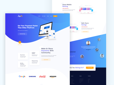 Payment Gateway Landing Page paypal agency design typograpgy ui.ux landing page app web design payment