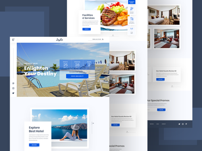 Hotel Booking Website Concept webdesign vacation travel tourism restaurant resort reservation luxury hotel holiday booking agency