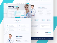 Medical Website Homepage Concept