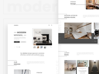 Modern Minimal Interior Website