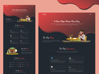Coffee Shop Landing Page Exploration