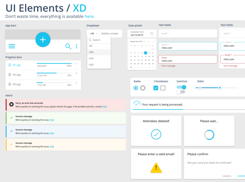 Ui Elements for Adobe XD