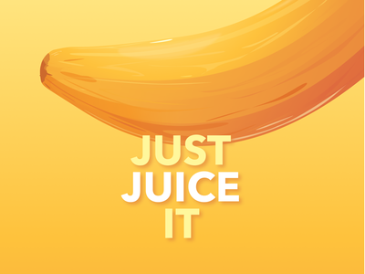Just Juice It 💦 juice positive fruit illustration