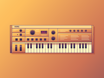 Micro Synth sound piano pixel music illustration synth korg