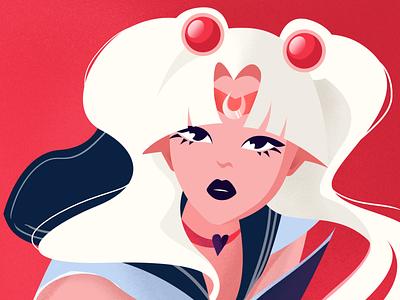 Sailor Moon Redraw superhero manga character girl moon color fun flat sailor moon redraw sailormoon anime illustration