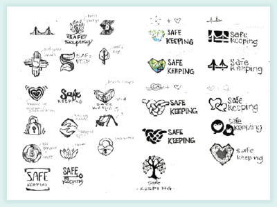 Safekeeping Logo Sketches