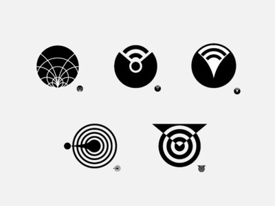 Electrical Engineering Company Black and White Logo Concepts